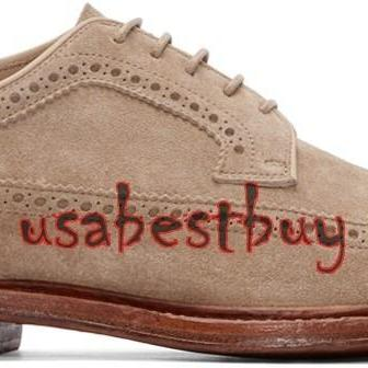 New Handmade Brogue Style Men Suede..