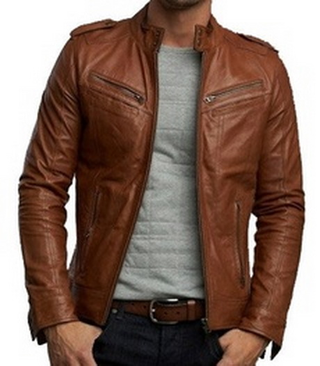 Handmade Custom New Men Latest Style Leather Jacket, Men Leather ...