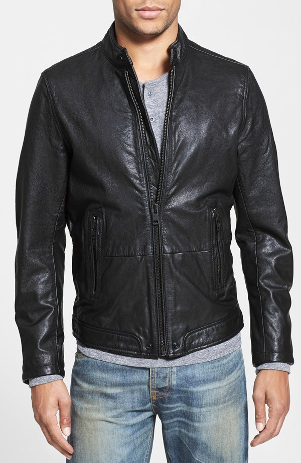 Handmade Custom New Men Simple Classic Vitage Biker Leather Jacket ...