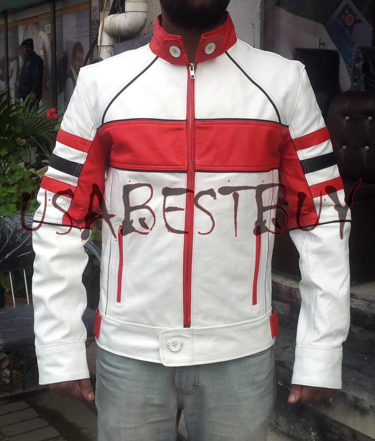 Handmade New Men Chic Style Multicolor Leather Jacket, Men Leather jacket