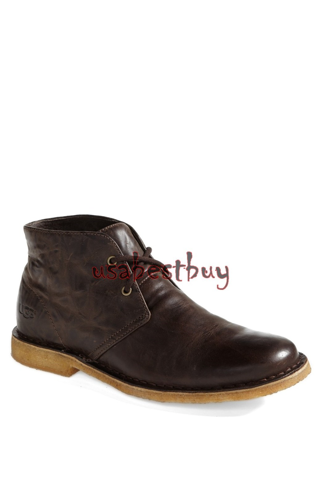 New Handmade Chukka Style Brown Real Leather Boots with Crepe Sole, Suede Boots