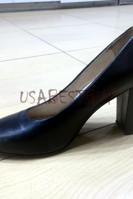 New Handmade Women Formal Superb Pumps with Wooden Heel and Leather sole.