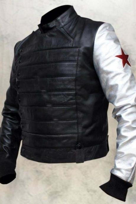 Custom Handmade Stylish The Winter Soldier Bucky cosplay cost