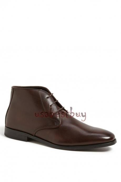 New Handmade Chukka Superb Style Genuine Leather Boots, Men real leather boots