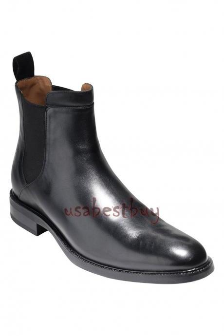 New Handmade Latest Style Black Leather Chelsea Boots, Men Stylish leather boots