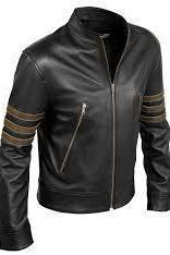 Custom Handmade X-Men Volverine leather jacket, Xmen movie black real leather ja