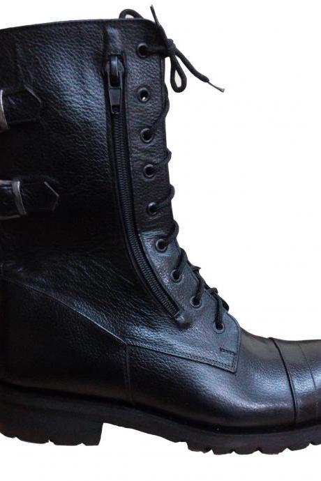 New Handmade Mens Military Style Superb Leather Boots, Army Boots