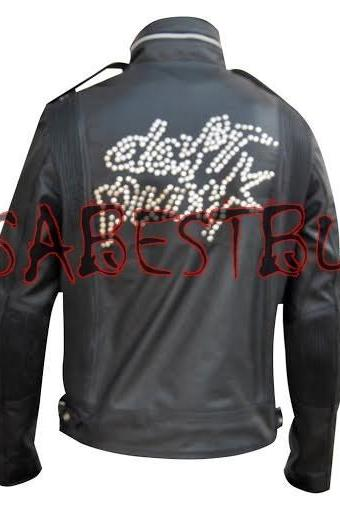 Handmade New Men Stylish Daft Punk Costume Bomber Leather Jacket