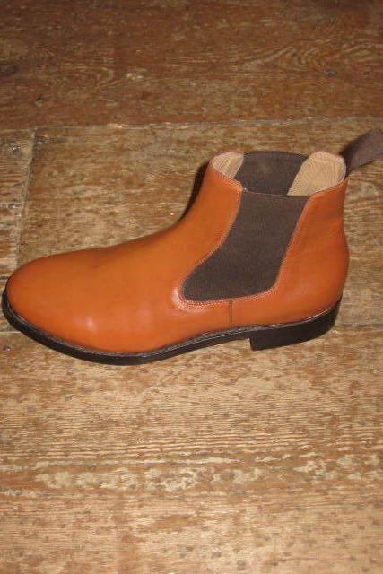 New Handmade Mens Tan Stylish Chelsea Real Leather Boots, Men leather boot