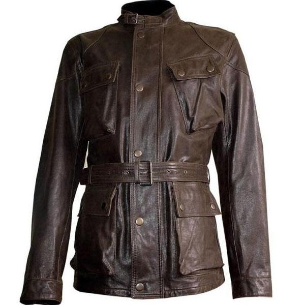 Handmade Custom New Men Benjmin Button Belted Long Leather Jacket, men leather jacket, Leather jacket for men, Biker Leather Jacket, Motorcycle Jacket