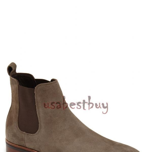 New Handmade Latest Style Brown Leather Chelsea Boots, Men Stylish leather boots