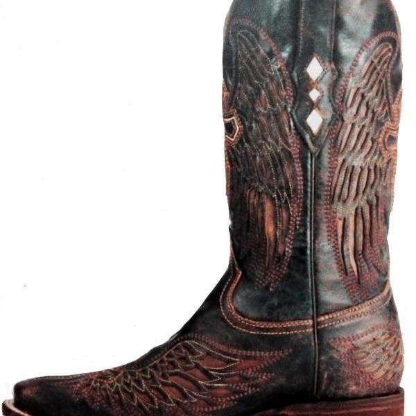 New Handmade Mens Brown Cowboy Antique Style Western Boots, Rare Cowboy Boots